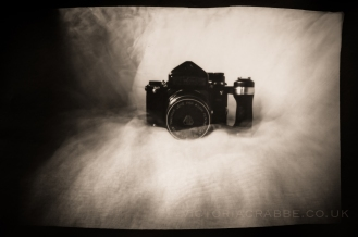 "Focal length: 4"" Pinhole diameter: approx. 0.5mm Paper negative: 7"" x 5"" Exposure time: 21 minutes"